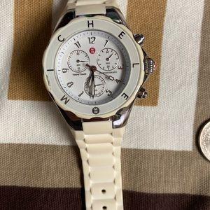 Michele jelly white watch